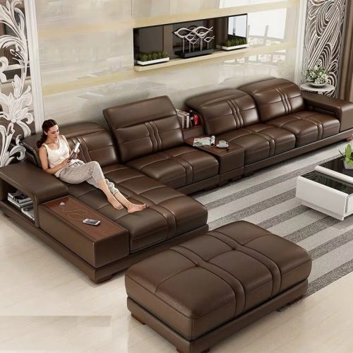 Ghế sofa da cao cấp L59