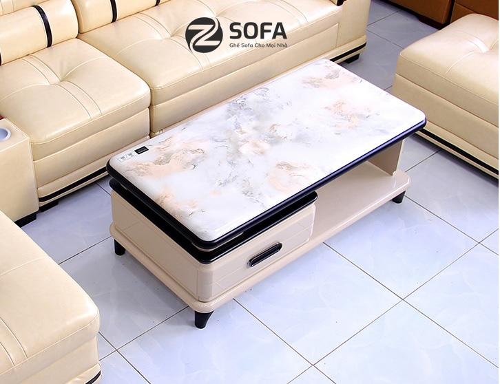 Bàn sofa mặt đá nhập khẩu viền đen