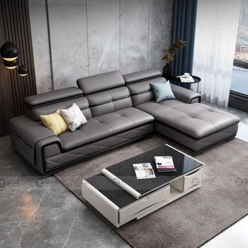 ghế Sofa da cao cấp L61A